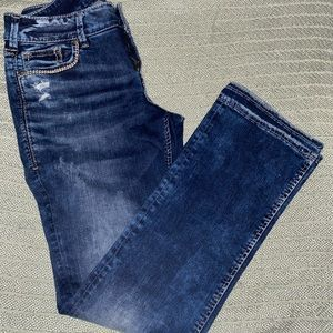SILVER JEANS Co SUKI MID SLIM BOOT WOMENS Sz 28/31